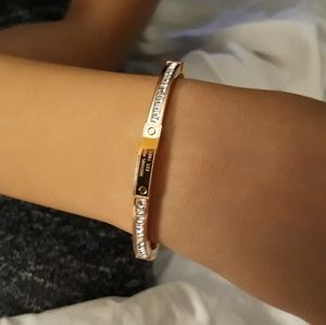 Authentic Michael Kors Rose Gold Crystal Bangle